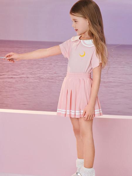 太平鸟童装品牌2020春夏学院风百褶裙夏款半身裙儿童JK制服套装