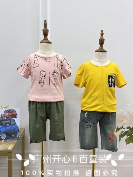 一线品牌童装欧恰恰夏款0.5折供应 广州品牌童装库存尾货批发