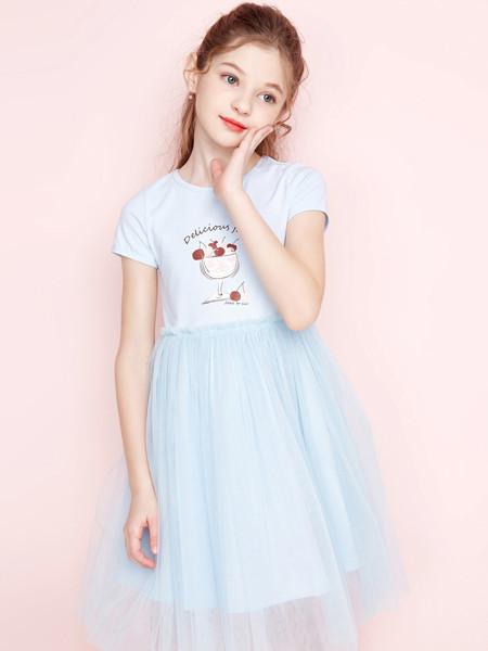 笛莎童装品牌2020春夏新款儿童网纱裙子女宝宝时尚洋气仙女裙