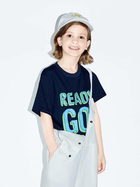 little Mo&Co童装品牌2020春夏纯棉Slogan短袖T恤