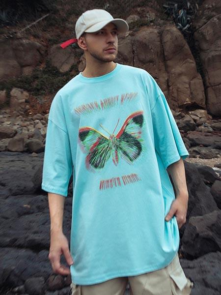 NUTHINK男装品牌2020春夏街头风潮人原宿风短袖