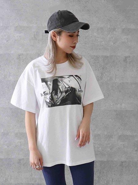 ANAP女装品牌2020春夏印花圆领短袖