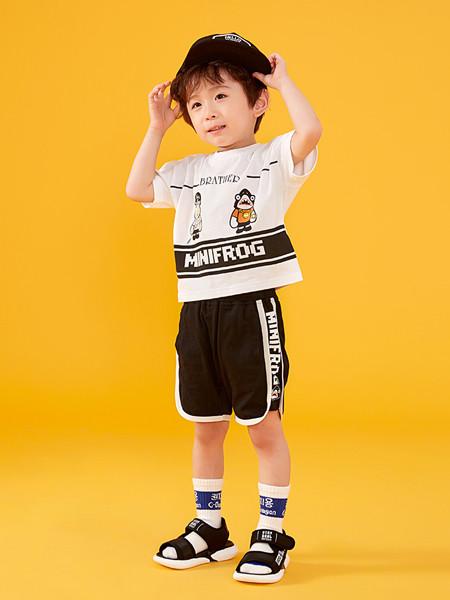 青蛙王(皇)子童装品牌2020春夏童装男小童短袖圆领套头T恤