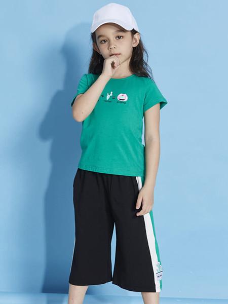 青蛙王(皇)子童装品牌2020春夏短袖T恤夏装薄款圆领印花图案休闲上衣