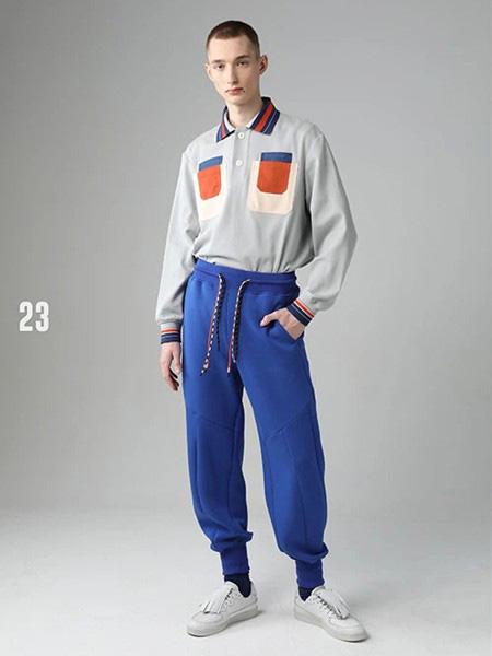 STAPFOHLY男装品牌2020秋冬撞色口袋翻领卫衣