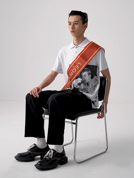 LEONSENSE(力上)男装品牌2020春夏印花图案圆领短袖