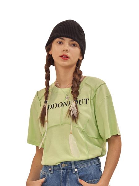 ODD ONE OUT国际品牌2020春夏绿色字母T恤