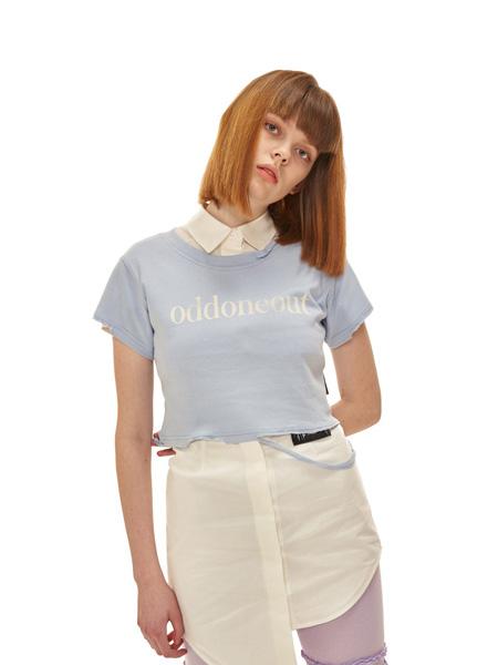ODD ONE OUT国际品牌2020春夏蓝色字母T恤