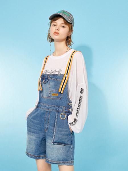 I LOVE CHOC 我爱巧克力女装品牌2020春夏小众设计感牛仔背带裤