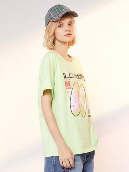 I LOVE CHOC 我爱巧克力女装品牌2020春夏纯色甜美可爱短袖T恤女显瘦潮牌