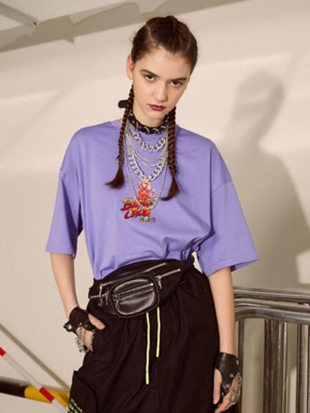 I LOVE CHOC 我爱巧克力女装品牌2020春夏新款宽松欧洲站短袖T恤女