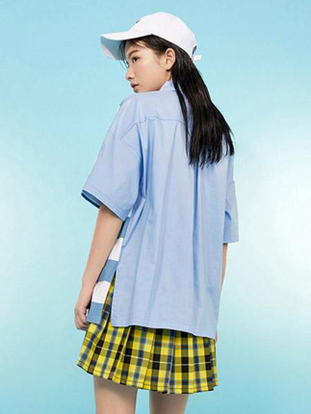 I LOVE CHOC 我爱巧克力女装品牌2020春夏宽松欧洲站条纹短袖T恤女款港风