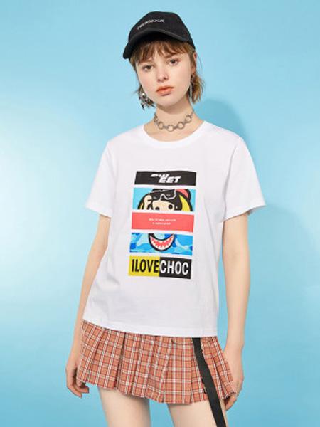 I LOVE CHOC 我爱巧克力女装品牌2020春夏甜美学院风纯棉少女短袖T恤女款潮ins