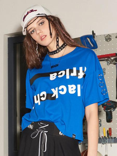 I LOVE CHOC 我爱巧克力女装品牌2020春夏宽松个性美式网红短袖T恤女潮夏短款
