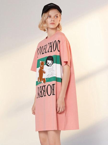 I LOVE CHOC 我爱巧克力女装品牌2020春夏黑暗系短袖连衣裙气质显瘦
