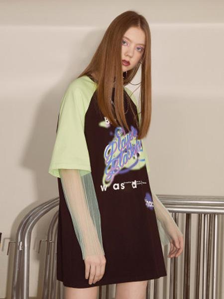 I LOVE CHOC 我爱巧克力女装品牌2020春夏宽松假两件法式短袖连衣裙女夏2020新款裙子