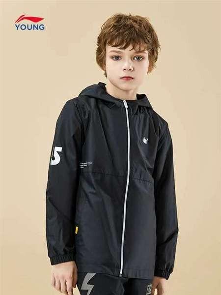 李宁童装 儿童户外运动休闲外套 秋季薄款速干防风外套批发