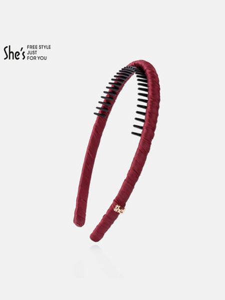 茜子黄金首饰品牌发饰糖果色头箍压发发卡带齿细发箍女百搭外出气质头饰发夹