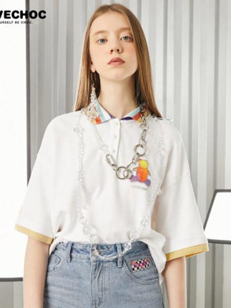 I LOVE CHOC 我爱巧克力女装品牌2020春夏polo衫甜美小熊短袖T恤女款
