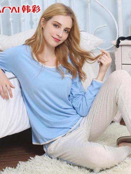 韩彩内衣品牌2020春夏睡衣女士夏季两件套可出门薄款春秋长袖短袖长裤休闲家居服