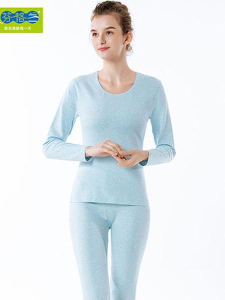 芬格兰内衣品牌2020秋季女士自然彩保暖内衣套装 莱卡棉毛衫秋衣秋裤印花打底套装