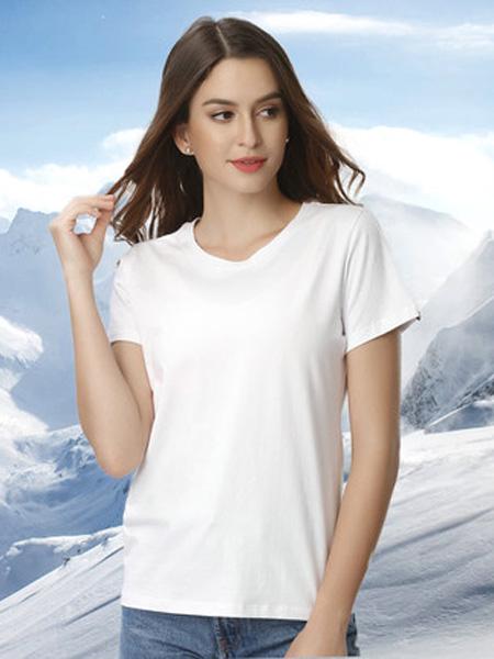 芬格兰内衣品牌2020秋季短袖t恤男士夏季潮纯棉情侣半袖白色体恤宽松女装上衣服韩