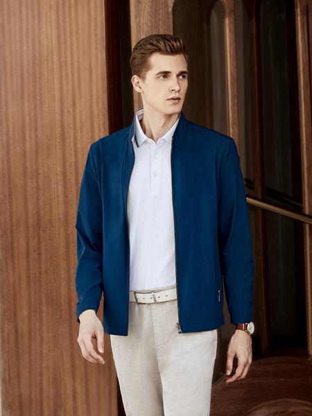 艾法利男装品牌2020秋季深蓝色西装外套