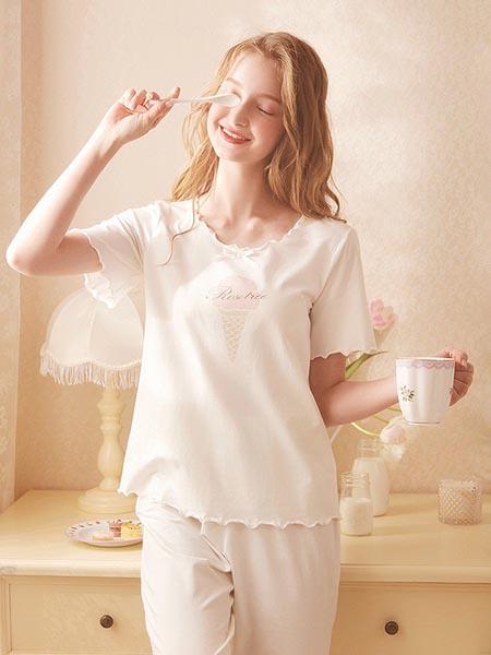 Rose Tree内衣品牌2020春夏可爱睡衣女短袖薄款甜美日系少女公主家居服套装