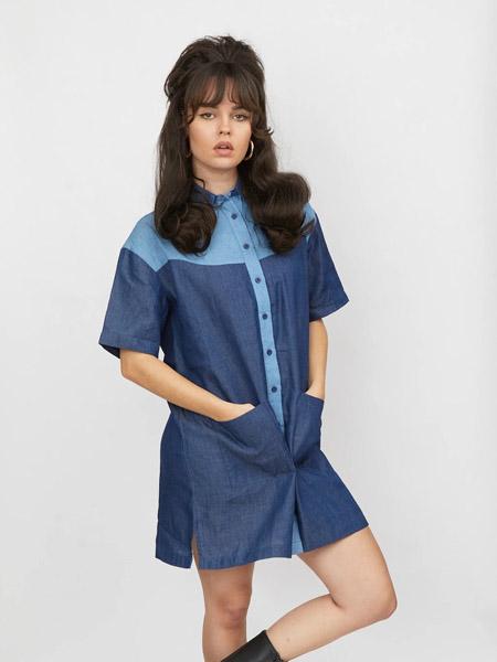 LAZY OAF女装品牌2020春夏休闲牛仔连衣裙