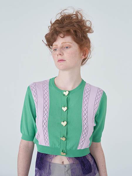 秀然女裝品牌2020春夏原創針織短袖