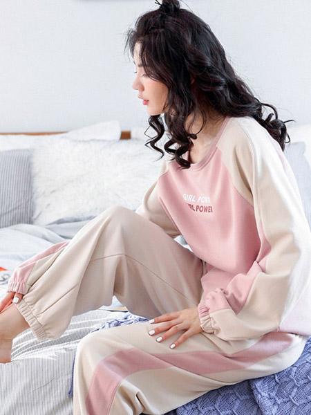 生活夜曲内衣品牌秋季粉色家居服