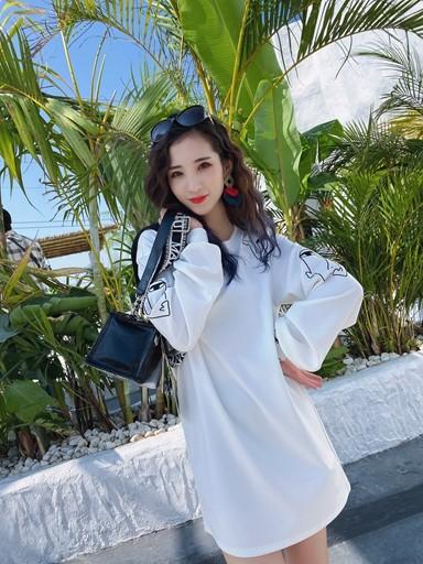 熙悦女装品牌2020春夏宽松纯色长袖