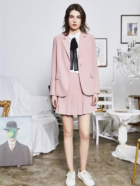 熙�门�装品牌2020秋季甜美西装套装