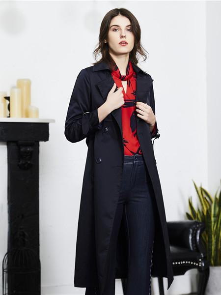 熙�门�装品牌2020秋季时尚气质风衣外套
