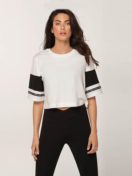 LornaJane女装品牌2020春夏短款吸汗纯棉T恤