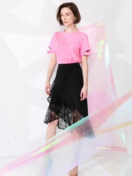 SASLAX莎斯莱思女装品牌2020春夏纯色休闲纯棉短袖