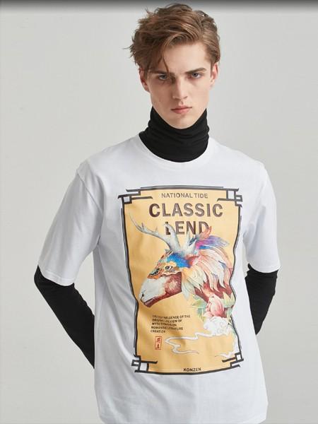 空间男装品牌2020春夏白色T恤