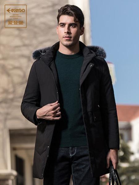爱登堡·英伦新贵时尚系列男装品牌冬季新款羽绒服男中长款加厚保暖连帽羽绒棉袄外套男潮