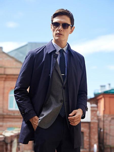 雅戈尔男装品牌2020春夏男士风衣商务休闲羽绒翻领中长款时尚外套