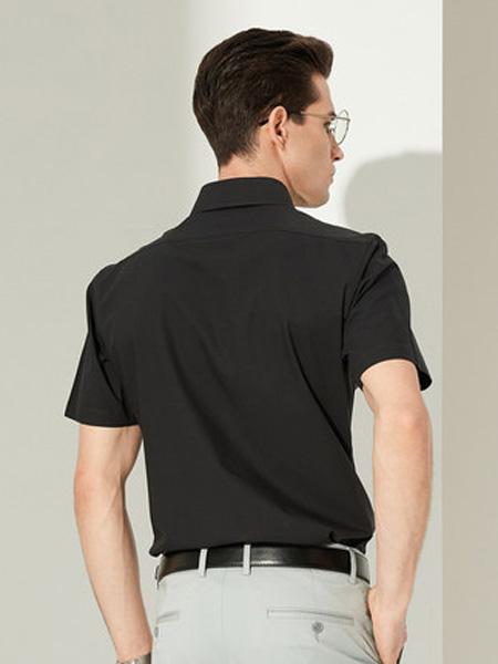 雅戈尔男装品牌2020春夏短袖衬衫夏季新款商务休闲棉DP免烫修身上班衬衣