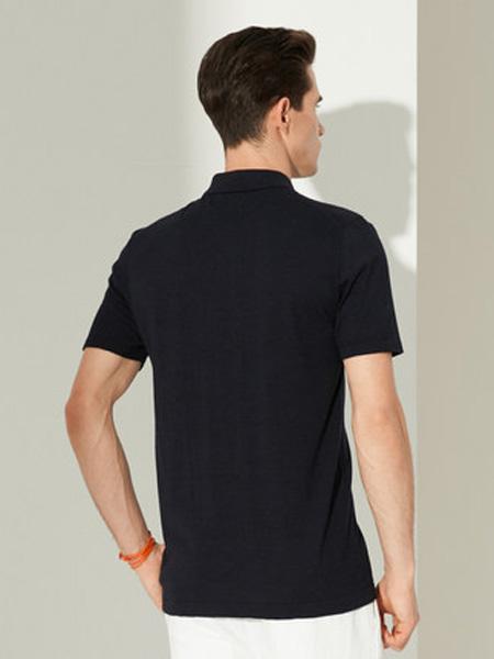 雅戈尔男装品牌2020春夏短袖T恤夏季新品商务休闲汉麻翻领修身时尚POLO衫