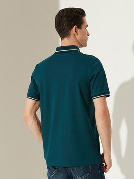 雅戈尔男装品牌2020春夏短袖T恤夏新款商务休闲商场同款桑蚕丝翻领POLO衫