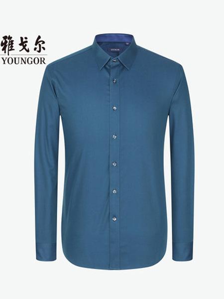 雅戈尔男装品牌2020春长袖衬衫春季新款男士官方弹力DP免烫商务休闲修身衬衣