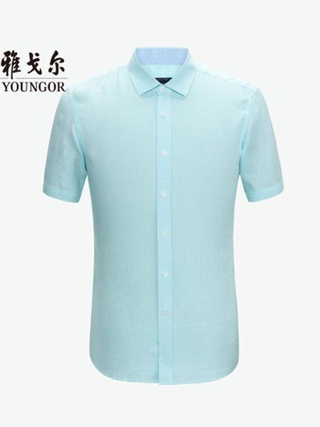 雅戈尔男装品牌2020春夏男士官方商务休闲商场凉爽汉麻衬衣