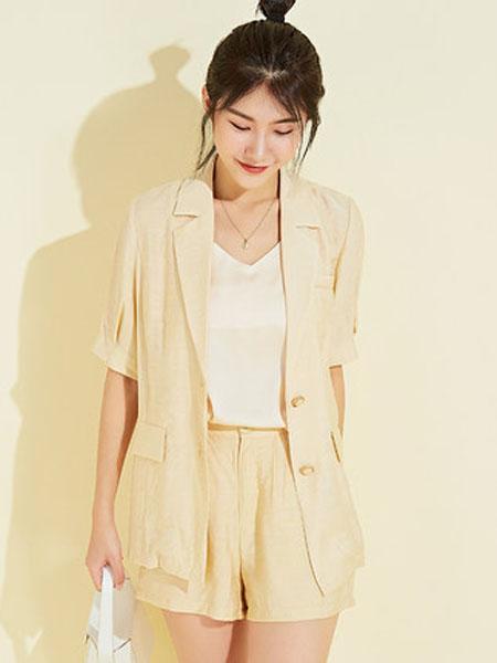 欧珂OLDCOLOUR女装品牌2020春夏2件套西装套装短裤清凉