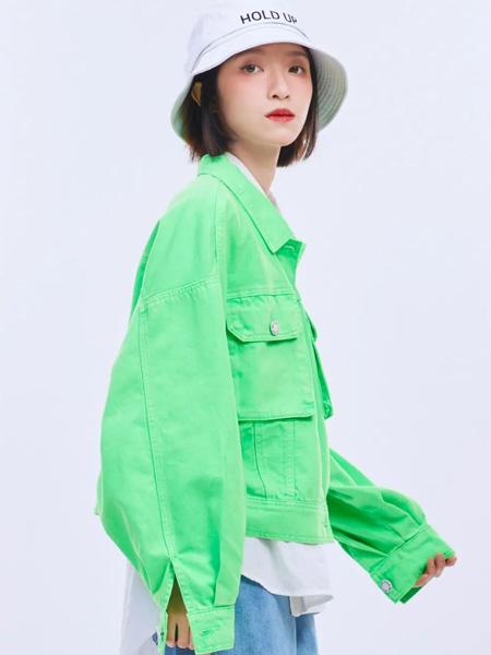 木果果木女装品牌2020秋季绿色衬衫长袖