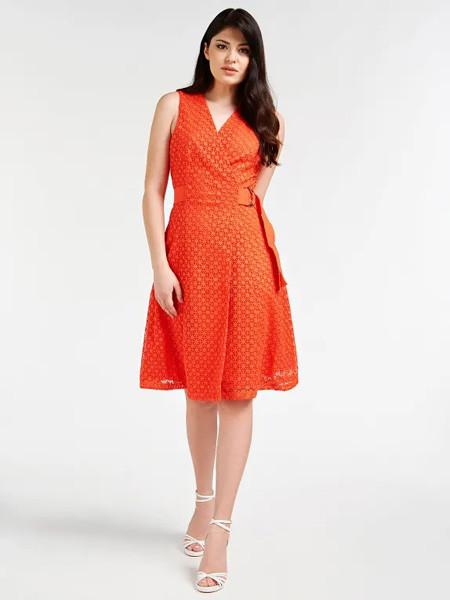 marciano国际品牌性感v领吊带裙