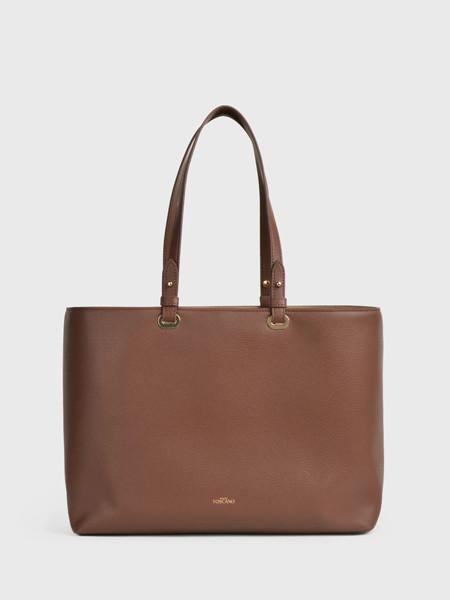 toccotoscano国际品牌咖啡色小众手提包