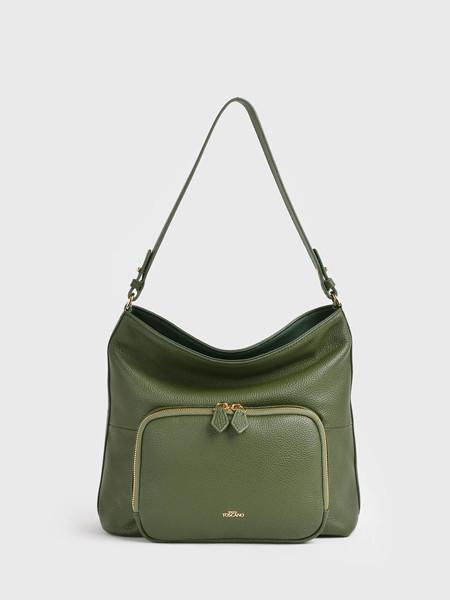 toccotoscano国际品牌小众墨绿软包流浪包