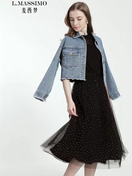 麦西梦女装品牌2020秋季蓝色牛仔外套